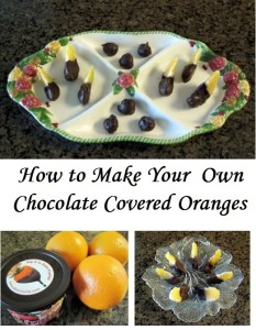 How to Make Chocolate Covered Oranges or Chocolate Dipped Oranges