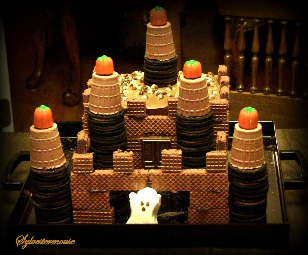 How to Make a Chocolate Halloween Ghost Castle Cake