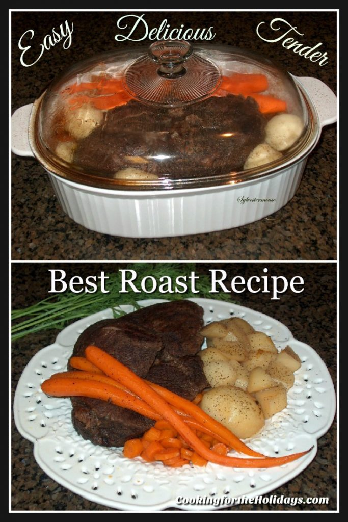 Oven Pot Roast Recipe with Potatoes & Carrots