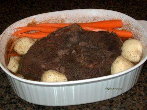 Roast, Potatoes & Carrots Recipe for Dinner