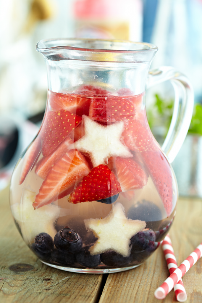 Red, White & Blue Lemonade punch