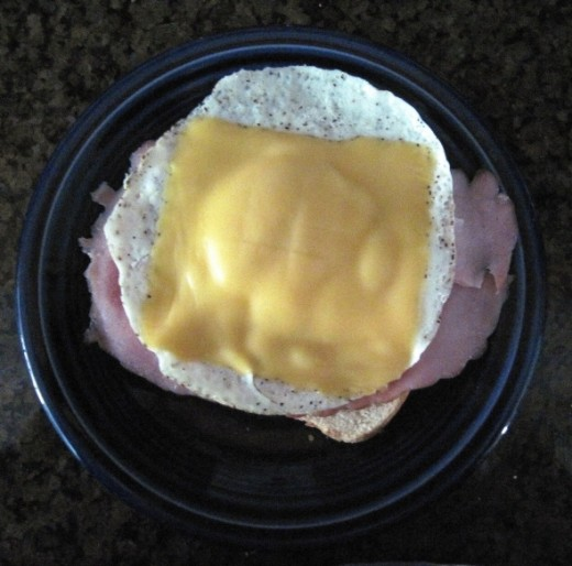 Egg, Ham, Cheese Toasted Sandwich Recipe