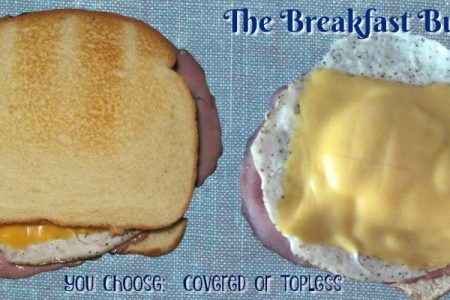 Breakfast Sandwich – Egg, Ham and Cheese Toasted Sandwich