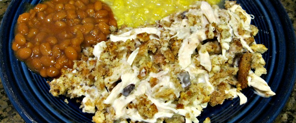 Chicken & Dressing Casserole Recipe